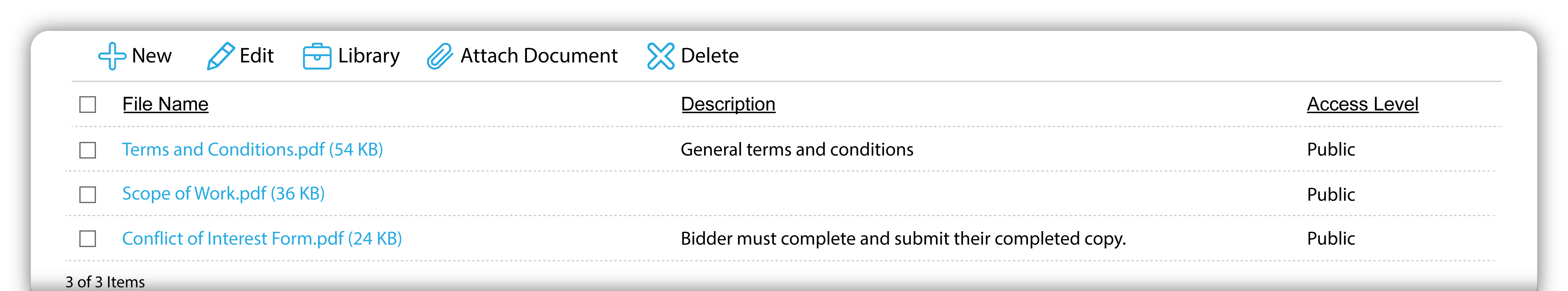 attach bid documents