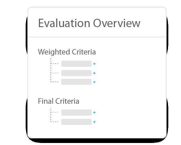 rfp evaluation settings