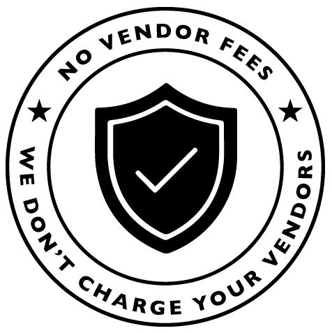 no vendor fees